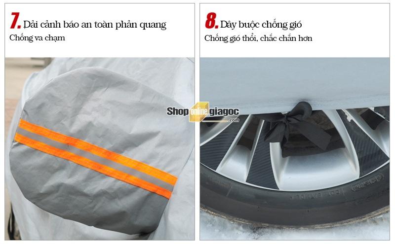Bạt Phủ Xe Ô Tô Nano Cách Nhiệt 2 Lớp SPW01