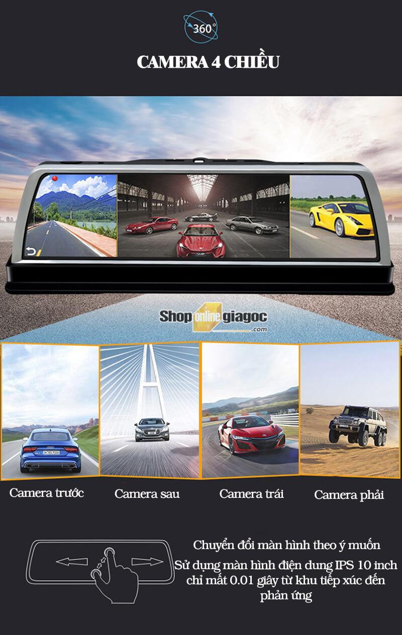 Camera Hành Trình Android S900 10 Inch HD 4G Phát Wifi, Quản Lý Xe Từ Xa
