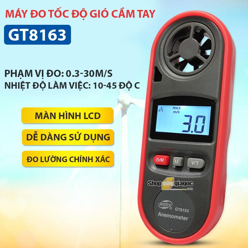 Máy Đo Tốc Độ Gió Cầm Tay GT8163