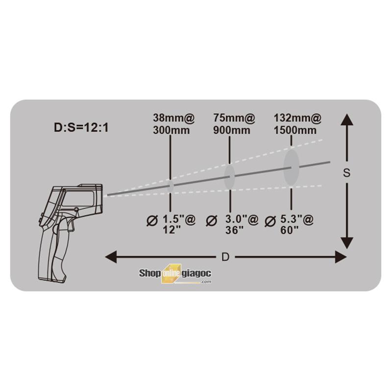 Máy đo nhiệt độ hồng ngoại trong phòng bếp Benetech GT750/GT950