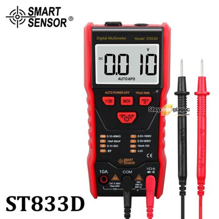 Đồng hồ vạn năng kĩ thuật số Smartsensor ST833D (True RMS, 1000V) được tuyển chọn và cung cấp bởi shoponlingiagoc.com
