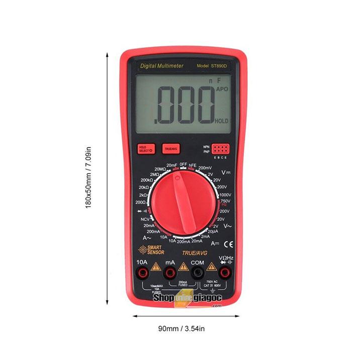 Đồng hồ vạn năng kĩ thuật số Smart Sensor ST890D được nhập khẩu và cung cấp bởi shoponlinegiagoc.com