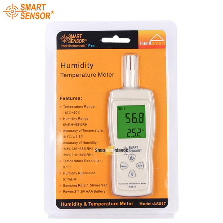 Máy đo nhiệt độ và độ ẩm Smart Sensor AS817