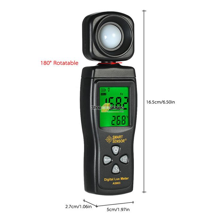 Máy đo cường độ ánh sáng Smart Sensor AS803 chính hãng được nhập khẩu và cung cấp bởi shoponlinegiagoc.com