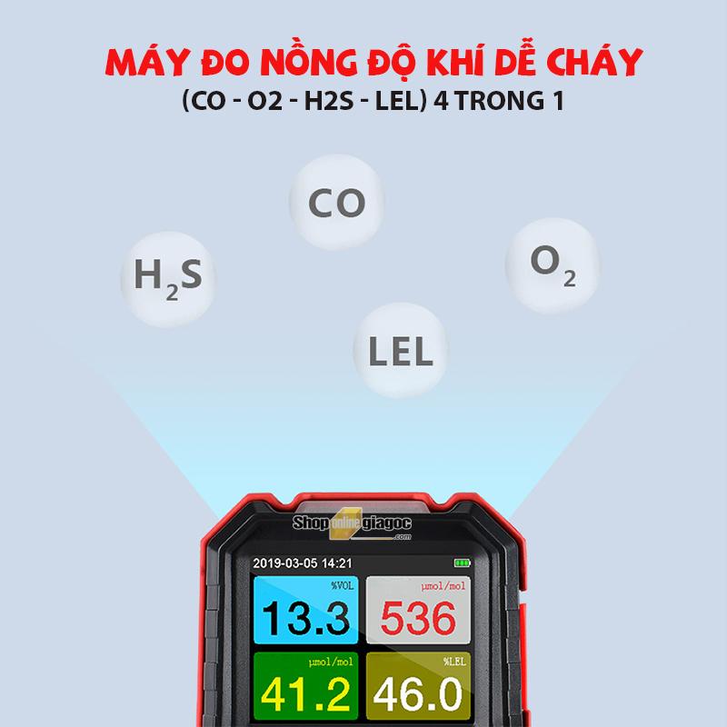 Máy Dò Khí Dễ Cháy 4 Trong 1 (CO - O2 - H2S - LEL) Benetech GT8220