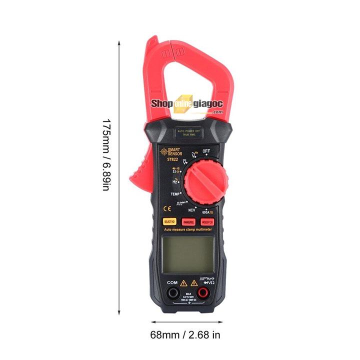 Ampe kìm AC/DC Smart Sensor ST822 (600A, true RMS) từ shoponlinegiagoc.com