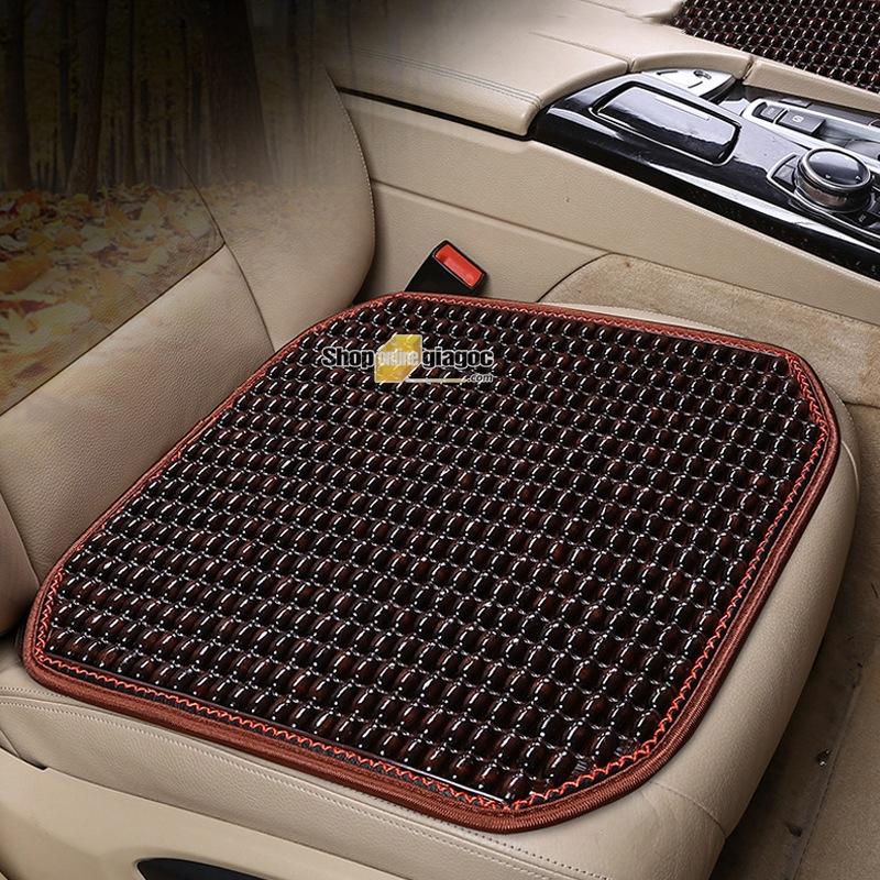 Lót Ghế Ô Tô Hạt Gỗ Cho xe 5 chỗ, Tấm lót ghế cho xe hơi