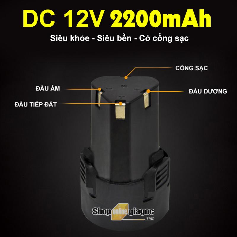 Pin Sạc DC 12V 2200mAh