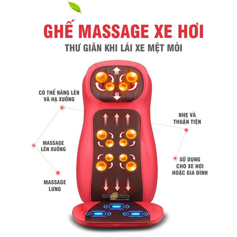 Đệm Ghế Massage Cho Xe Ô Tô/ Gia Đình YFL800C3
