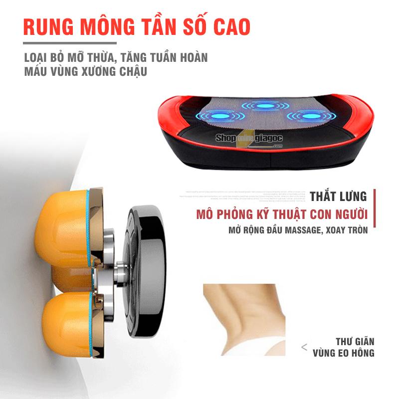 Đệm Ghế Massage 3D Thông Minh YJ628CZ8A