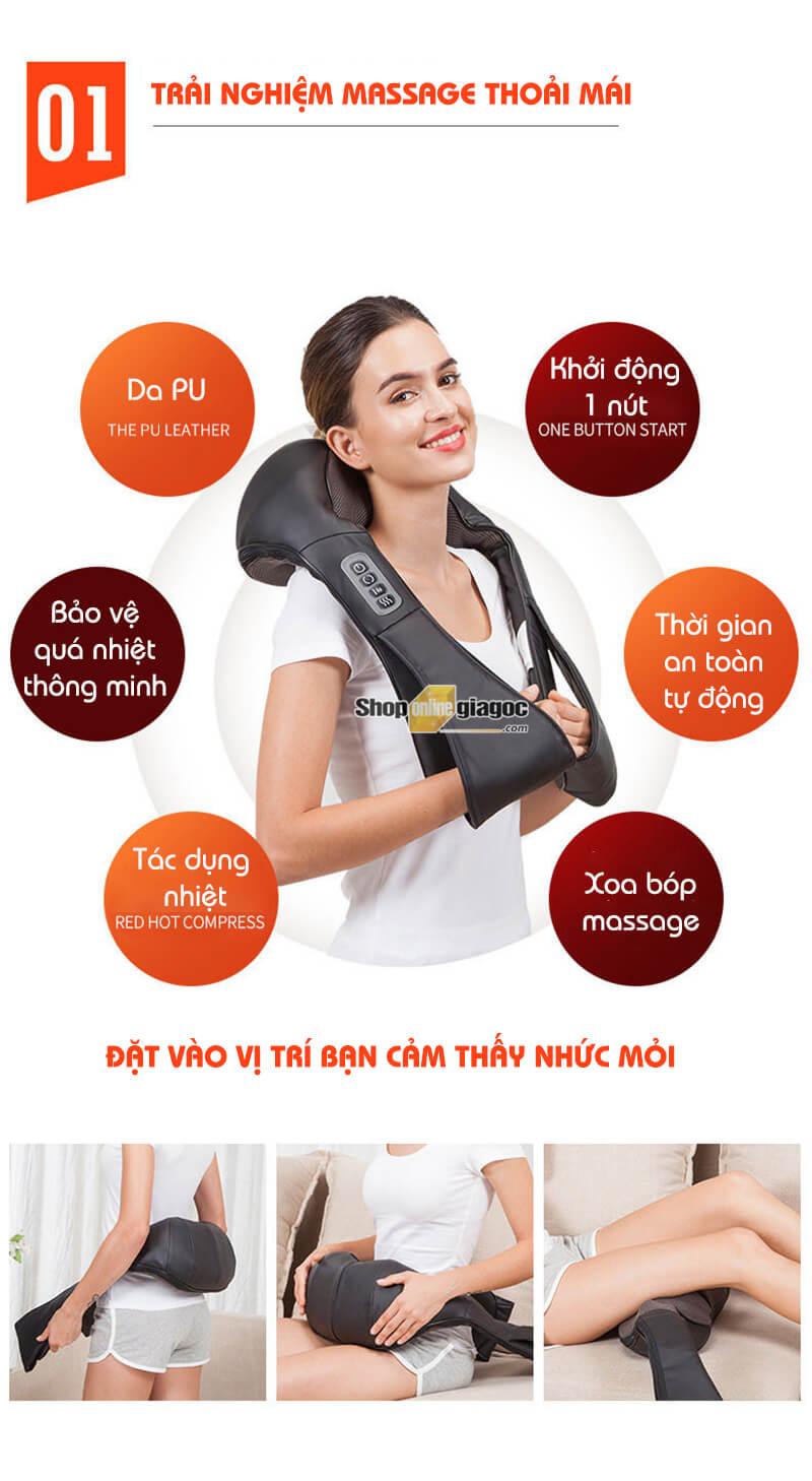 Đai Massage Đấm Lưng Vai Cổ Gáy Đa Năng D621