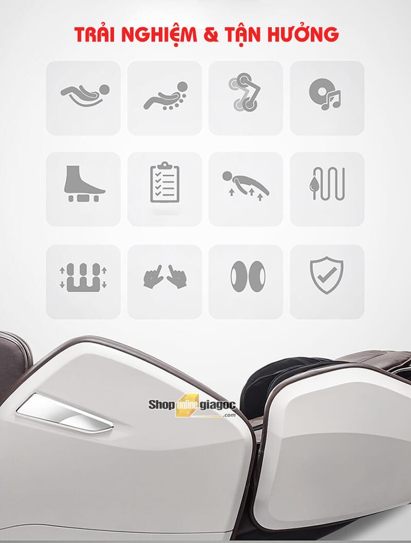 Ghế Massage Toàn Thân Thông Minh Đa Chức Năng HD-750A
