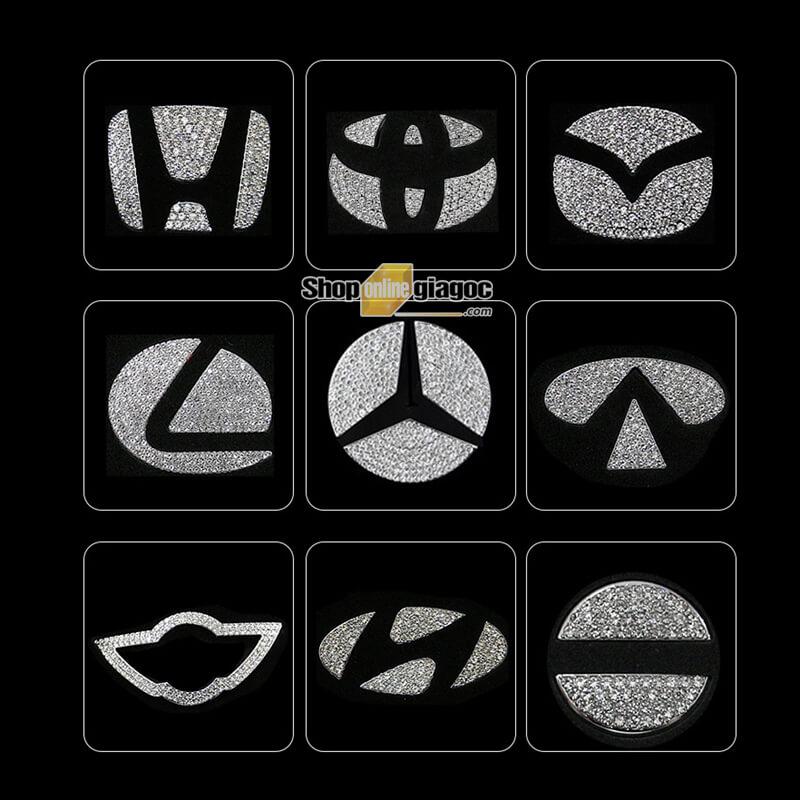 Logo Đính Đá Gắn Vô Lăng Theo Hãng Xe