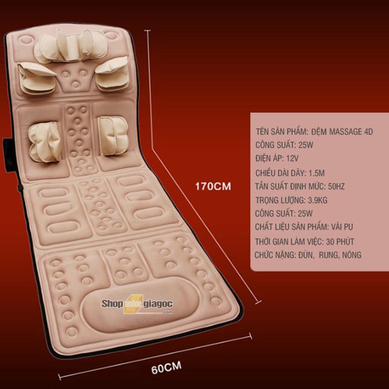 Đệm Massage 4D Gấp Gọn YJK538