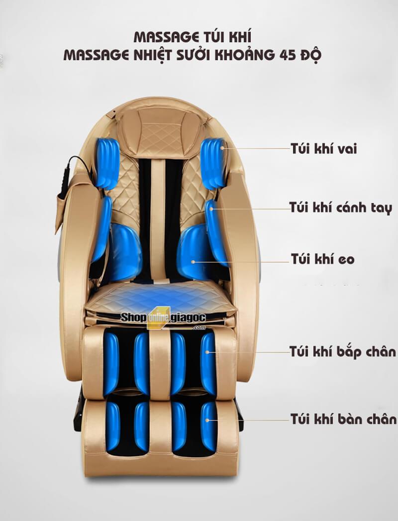 Ghế Massage Toàn Thân Tự Động Đa Chức Năng RLS-810