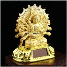 Tượng Phật Thiên Thủ Quan Âm 2 Mặt Vòng Xoay Năng Lượng Mặt Trời