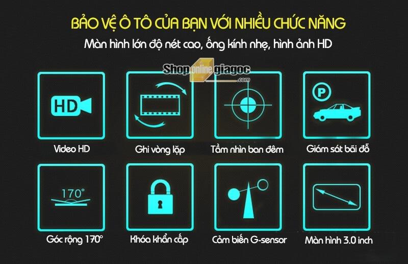 Camera Hành Trình G100 Full HD 1080P