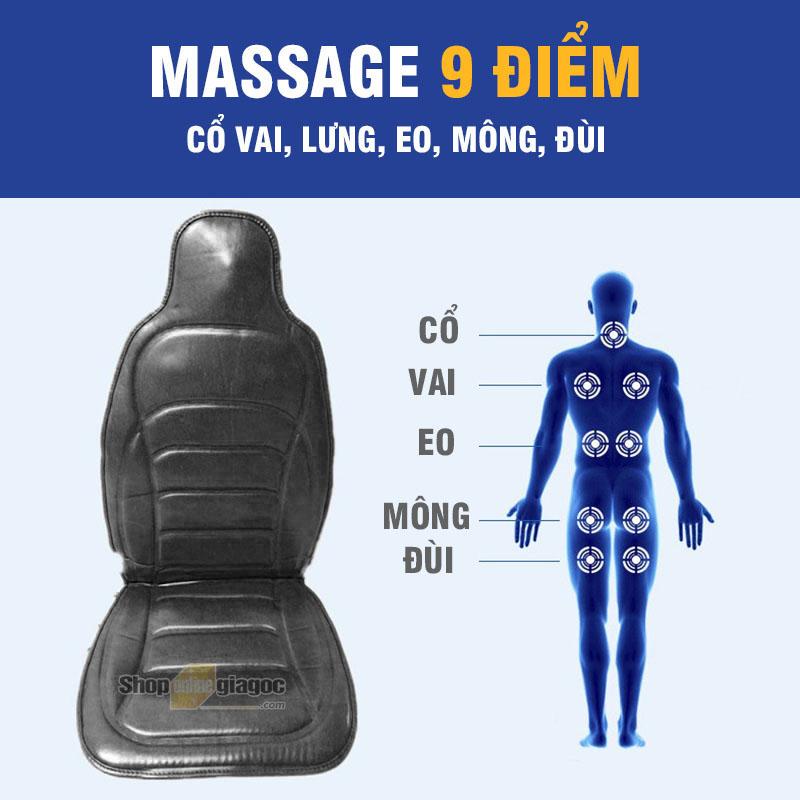 Đệm Massage 9 Điểm Nhiệt Sưởi JB-616B