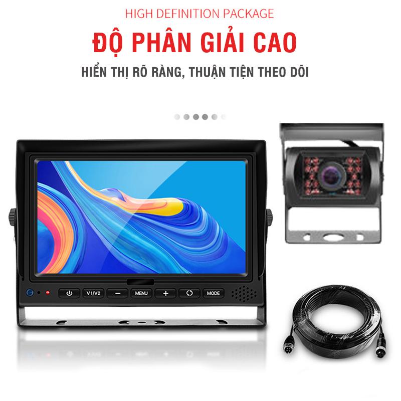 Combo 4 Camera Hành Trình Xe Tải Full HD+ Màn Hình IPS 7 Inch AHD Cổng GX12